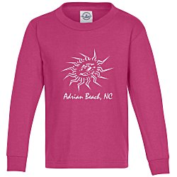 View a larger, more detailed picture of the 5 2 oz Cotton Long Sleeve T-Shirt - Youth