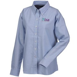 View a larger, more detailed picture of the Blue Generation Long Sleeve Oxford - Ladies - Solid