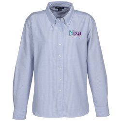View a larger, more detailed picture of the Blue Generation Long Sleeve Oxford - Ladies - Stripes