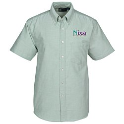 View a larger, more detailed picture of the Blue Generation Short Sleeve Oxford - Men s - Solid