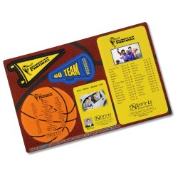 View a larger, more detailed picture of the Repositionable Sticker Spirit Card - Basketball