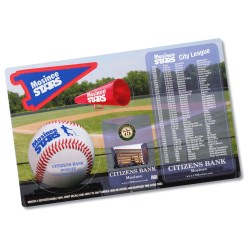 View a larger, more detailed picture of the Repositionable Sticker Spirit Card - Baseball