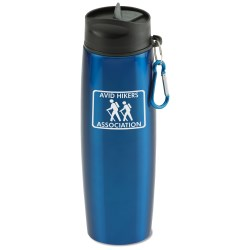 View a larger, more detailed picture of the Stainless Bottle w Carabiner - 24 oz