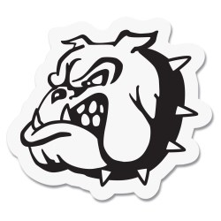 View a larger, more detailed picture of the Custom Helmet Sticker - White - Small