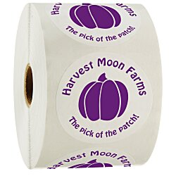 View a larger, more detailed picture of the Value Sticker by the Roll - Circle - 1-1 2