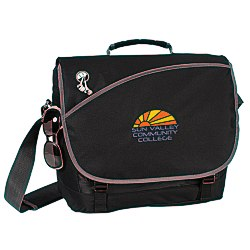 View a larger, more detailed picture of the Freestyle Laptop Messenger Bag - Embroidered
