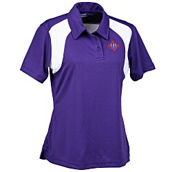 View a larger, more detailed picture of the Extreme Performance Color-Block Textured Polo - Ladies