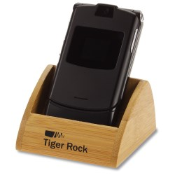 View a larger, more detailed picture of the Bamboo Cell Phone Holder - Closeout