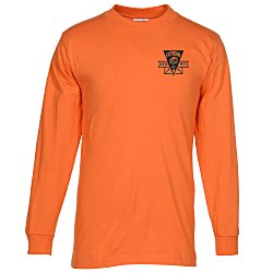 View a larger, more detailed picture of the Bayside USA Made Long Sleeve T-Shirt - Colors