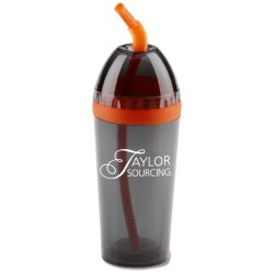 View a larger, more detailed picture of the Azio Double Wall Tumbler w Straw - 14 oz