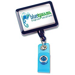 View a larger, more detailed picture of the Jumbo Retractable Badge Holder - 40 - Rectangle - Opaque