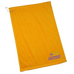 View a larger, more detailed picture of the Economy Golf Towel w Grommet and Clip