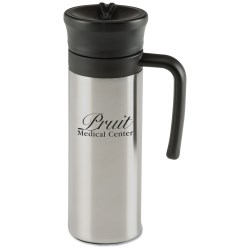 View a larger, more detailed picture of the Lazzaro Convertible Vacuum Mug - 16 oz