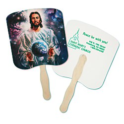 View a larger, more detailed picture of the Hand Fan - Spiritual - World