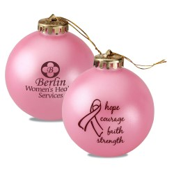 View a larger, more detailed picture of the Breast Cancer Awareness Ornament - Words