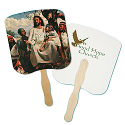 View a larger, more detailed picture of the Hand Fan - Spiritual - Children