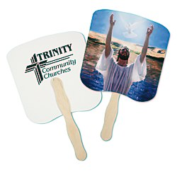 View a larger, more detailed picture of the Hand Fan - Spiritual - Baptism