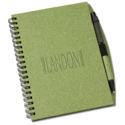 View a larger, more detailed picture of the Recycled Nature Notebook w Pen