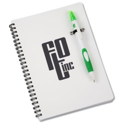 View a larger, more detailed picture of the Fame Notebook Set - White