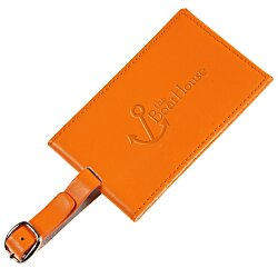 View a larger, more detailed picture of the Colorplay Double Leather Luggage Tag