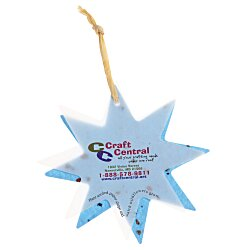View a larger, more detailed picture of the Seeded Paper Ornament - Star