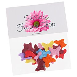 View a larger, more detailed picture of the Flower Seed Multicolor Confetti Pack - Butterfly