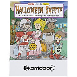 View a larger, more detailed picture of the Halloween Safety Coloring Book