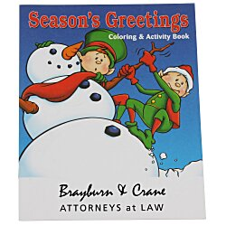 View a larger, more detailed picture of the Season s Greetings Coloring Book