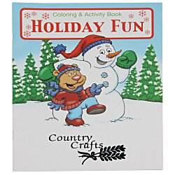 View a larger, more detailed picture of the Holiday Fun Coloring Book