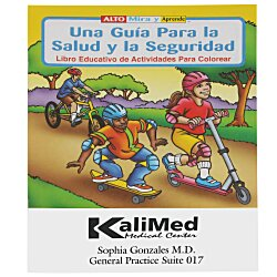 View a larger, more detailed picture of the A Guide To Health & Safety Coloring Book - Spanish