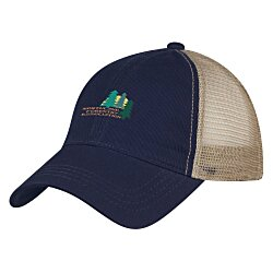 View a larger, more detailed picture of the Washed Cotton Mesh Back Cap