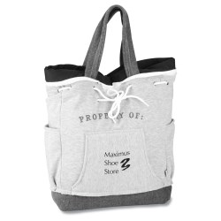 View a larger, more detailed picture of the Our Team Sweatshirt Backpack Tote