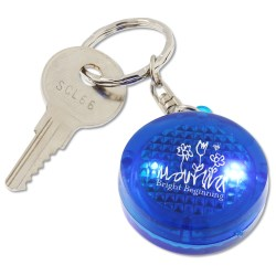 View a larger, more detailed picture of the Round Soft Touch LED Key Tag