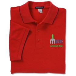 View a larger, more detailed picture of the Solarshield UPF 30 Easy Care Polo w Tipping - Men s
