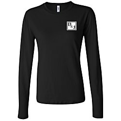 View a larger, more detailed picture of the Bella Long Sleeve Jersey T-Shirt - Ladies - Colors