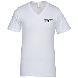 View a larger, more detailed picture of the Canvas Delancey V-Neck T-Shirt - Men s - White - Screen
