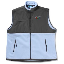 View a larger, more detailed picture of the Cienna Fleece Vest w Nylon Panel - Ladies