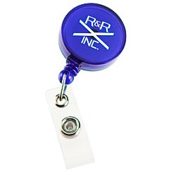 View a larger, more detailed picture of the Economy Retractable Badge Holder - RD - Translucent