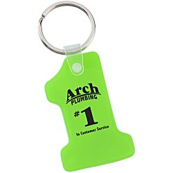 View a larger, more detailed picture of the Number One Soft Key Tag - Translucent