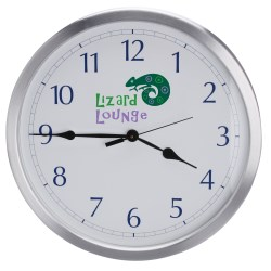 View a larger, more detailed picture of the 14 Diameter Metal Wall Clock - Closeout