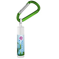 View a larger, more detailed picture of the Value Lip Balm w Carabiner - Beach