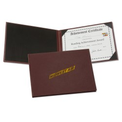 View a larger, more detailed picture of the Hard Cover Certificate Holder