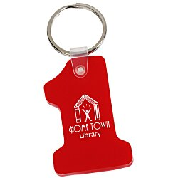 View a larger, more detailed picture of the Number One Soft Key Tag - Opaque