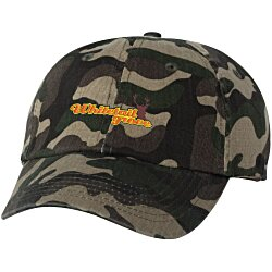 View a larger, more detailed picture of the Bio-Washed Cap - Camo - Embroidered