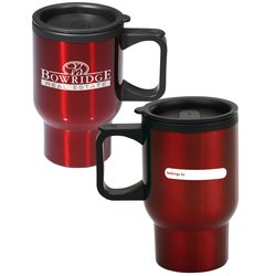 View a larger, more detailed picture of the ID Stainless Steel Travel Mug - 16 oz