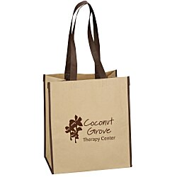 View a larger, more detailed picture of the Kraft Paper Laminated Polypropylene Shopper