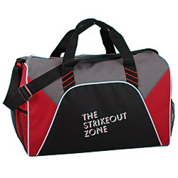 View a larger, more detailed picture of the Color Panel Sport Duffel - Screen