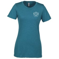 View a larger, more detailed picture of the Next Level CVC 4 3 oz Blend Crew T-Shirt - Ladies