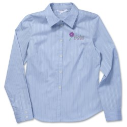 View a larger, more detailed picture of the Calvin Klein Cotton Tonal Dress Shirt - Ladies