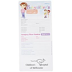 View a larger, more detailed picture of the Emergency Guide - Babysitter s - 24 hr